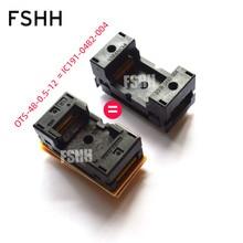 цена на OTS48-0.5-12 instead of IC191-0482-004 test socket 0.5mm TSOP48 socket NAND FLASH chip test socket