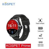KOSPET Prime 4G Smart Watch Phone 3GB RAM 32GB ROM 1.6 inch Sport Smart Watch GPS Dual Cameras 1260mAh Battery Face ID Unlock