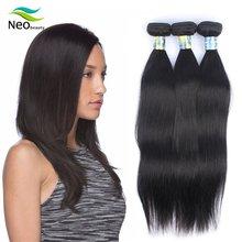9A Neobeauty Hair Malaysian Straight Human Hair 100% Remy Hair Weave Bundles 1/3/4 PCS Natural Black 8-40 Free Shipping