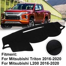 Wnętrze deska rozdzielcza samochodu pokrywa mata na deskę rozdzielczą dywan dla Mitsubishi dla Triton dla Mitsubishi L200 2016-2020 osłony przeciwsłoneczne do samochodu mata na deskę rozdzielczą poduszka tanie tanio CN (pochodzenie) Włókien syntetycznych Prawo steru