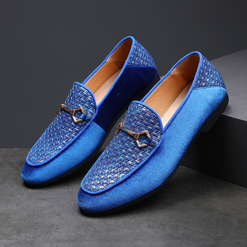 2019 Men Shoes Dress Wedding Formal Shoes Black Blue Suede Shoes Flats Comfortable Driving  Shoes Plus Size 37-48