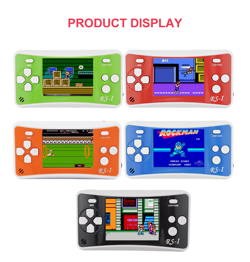 "RS-1 Video Game Console Mini TV Handheld Game Player Family Recreation Video Gaming System Controller 152 Games 2.5"" LCD image"