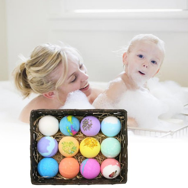 Oil Bath Essential Monochrome Ball Gift Box With Aromatherapy Essential Oil Explosion Ball Milk Bath Salt Ball 2