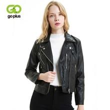 GOPLUS Womens Jacket Asymmetric Zip Faux Leather Jackets Black White Plus Size Short Coats Kurtka Ramoneska Veste En Cuir Femme