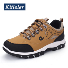 2020 Breathable Hiking Shoes Men Walking Sneakers Outdoor Non slip Climbing Trekking Sport Footwear KITLELER Zapatillas Hombre
