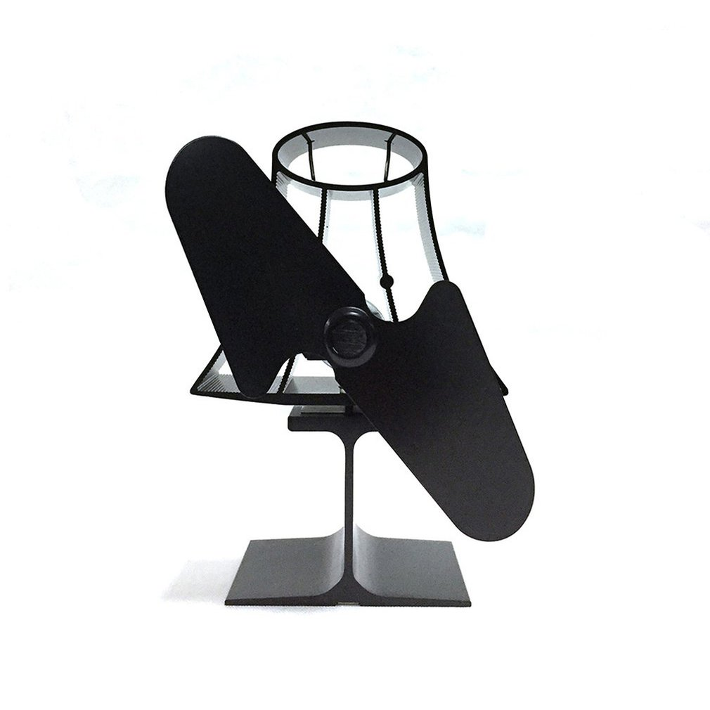 YL-101 Table Lamp Thermodynamic Fireplace Fan Thermal Power Fireplace Fan Eco Friendly Two-leaf Fans