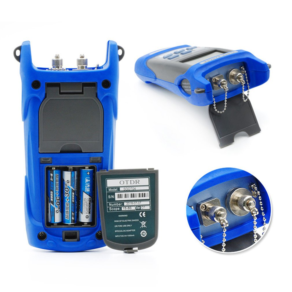 Handheld Optical Fiber Breakpoint Detector to Test a Fiber Link Node Length and Fault Location 4