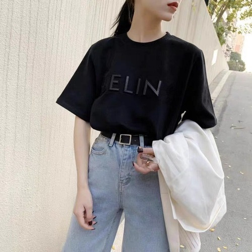 2020 summer new product hot sale three-dimensional embroidered short-sleeved T-shirt women ins trendy women's fashion tops 2