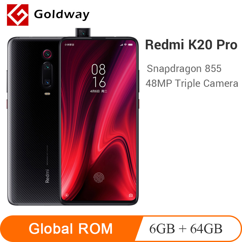 Global ROM Xiaomi Redmi K20 Pro 6GB RAM 64GB ROM Mobile Phone Snapdragon 855 Octa Core 6.39