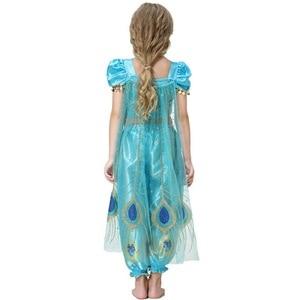 Image 5 - 2019 mädchen Prinzessin Jasmin Cosutmes Cape Kinder Bauchtanz Kleid Kinder Indische Kostüm Halloween Weihnachten Party Cosplay 2  10