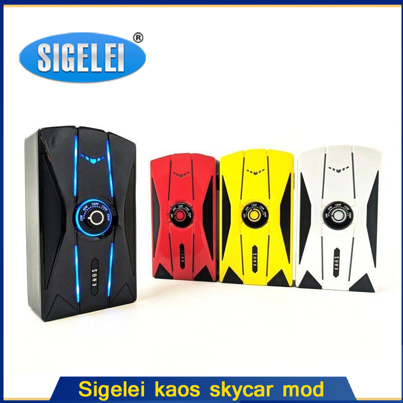 Original 230W Sigelei Kaos Skycar Box Mod Battery Powered By Dual 18650(not Included) Electronic Cigarette Mod Box