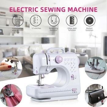 Mini Sewing Machine Sewing Machine 7.2W Purple White Electric Automatic Desktop Single Needle ABS Small Portable
