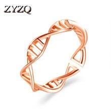 Zyzq criativo geométrico aberto anel banda personalidade design em forma de corrente banhado a prata oco para fora acessórios por atacado lotes & a granel