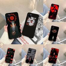 Anime hidan Itachi Phone Case For iphone 5s 6 7 8 11 12 plus xsmax xr pro mini se Cover Fundas Coque