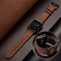 Correa de silicona y cuero para Apple watch, banda de 44 mm y 40mm para iWatch de 38mm y 42mm, pulsera de reloj Apple watch series SE 6 5 4 3