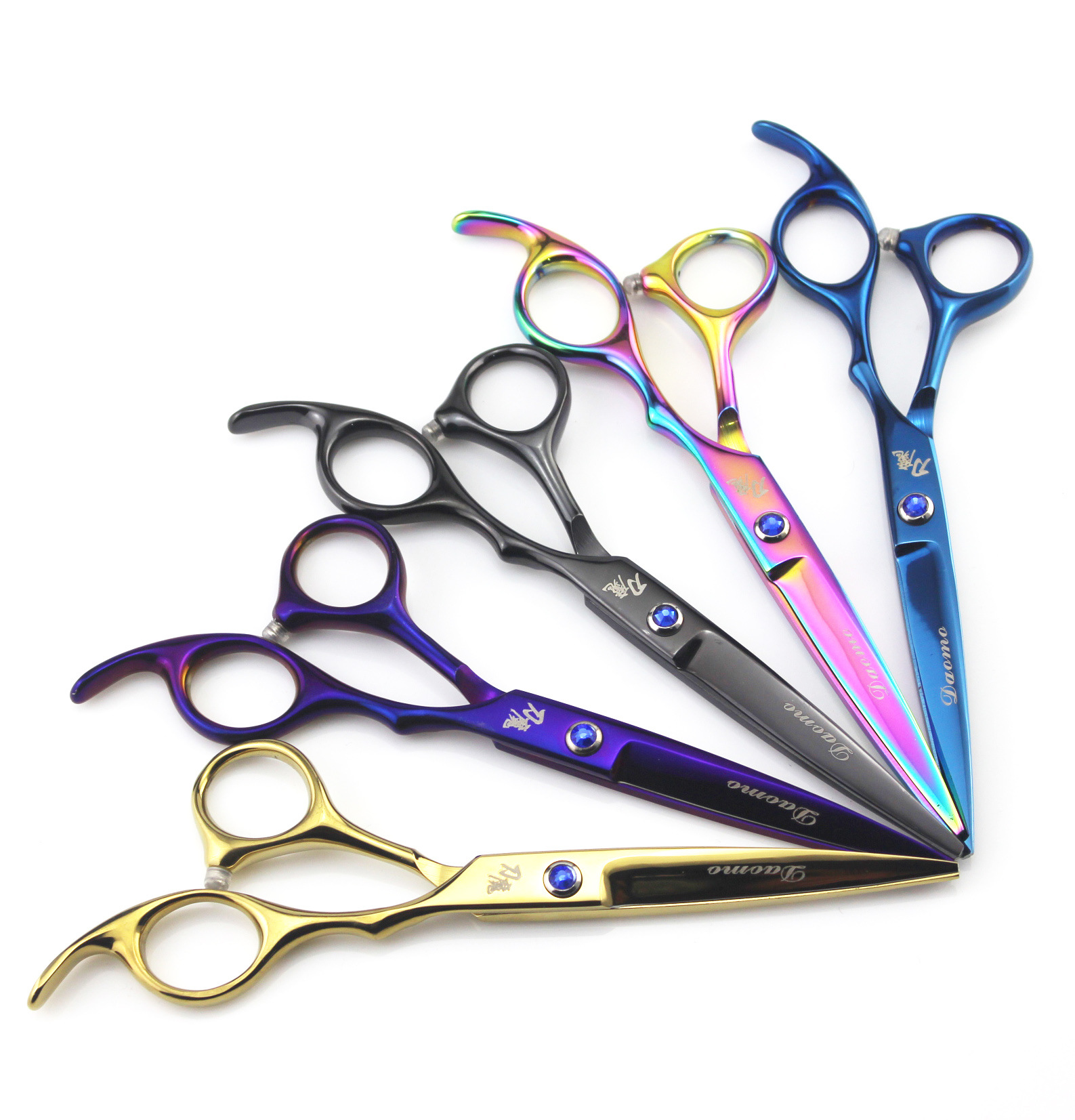 6.0-Inch Dao Mo Color Hairdressing Scissors Hair Scissors Straight Snips Bangs Thinning Scissors Thinning Shear