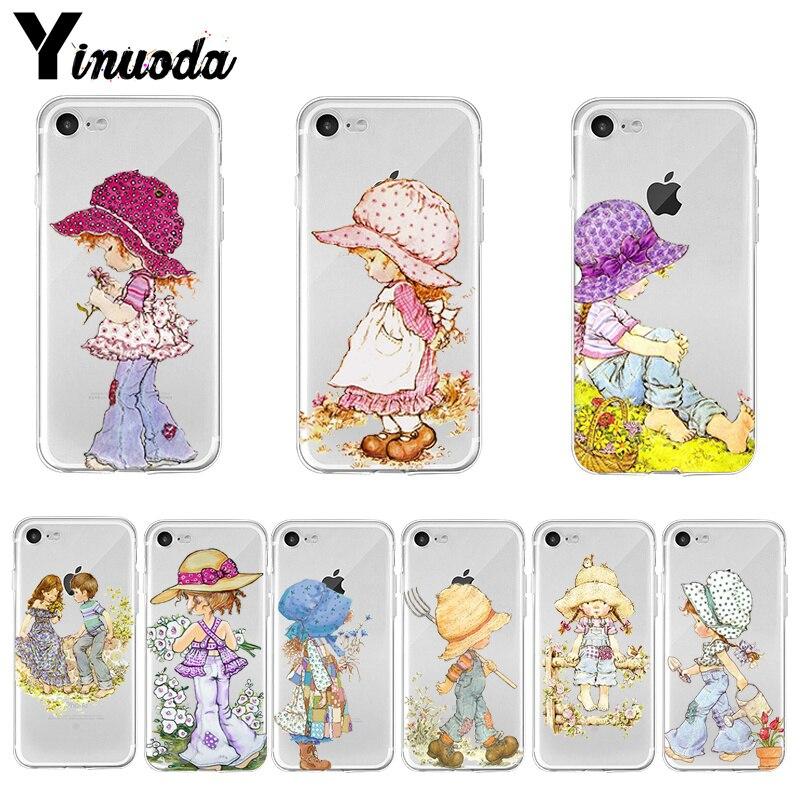 Yinuoda sarah kay padrão de alta qualidade acessórios do telefone capa para iphone 8 7 6s plus x xs max 10 5 5S se xr coque escudo