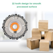 4 Inch Grinder Disc and Chain 22 Tooth Fine Abrasive Cut Chain For 100/115 Angle Wood Carving Disc