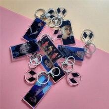 1Pcs Kpop EXO New Album OBSESSION Acrylic Keychain Pendant Jewelry SEHUN BAEKHYUN CHANYEOL SUHO KAI Concert Accessories