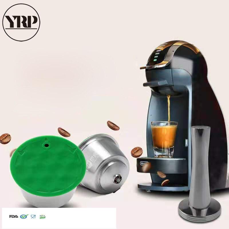 Dolce gusto 커피 머신 캡슐 재충전 용 네스프레소 캡슐 재사용 가능한 스테인리스 강 커피 필터 주방 악세사리