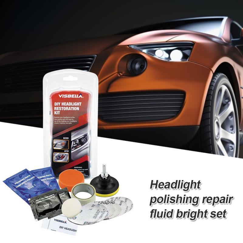 Headlight Polish Restoration Headlamp Brightener Kit DIY For Car Head Lamp Lenses Deep Clean Head Light Paste Best One