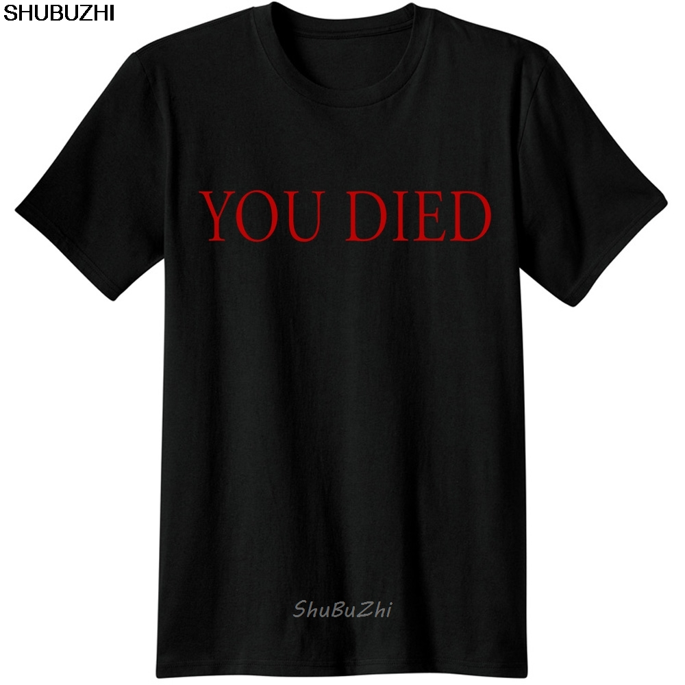 Dark Souls Gaming T Shirt Video Game Men T-Shirt Souls You Died Novelty Funny Casual From Software Dark Souls 3 T-Shirts Sbz3271