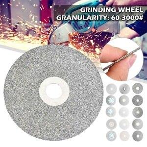 100mm 60-3000 # diamante revestido plana roda de volta lapidação polimento disco de moagem