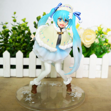 Anime Hatsune Miku Winter Wear Ver PVC Action Figure Collectible Model doll toy 15cm anime hatsune miku v4x vocal project diva pvc action figure juguetes collectible model doll kids toys 20cm