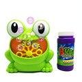 Новая Милая лягушка Автоматическая пузырчатая машина пистолет мыло пузырчатая воздуходувка наружная детская игрушка для детей