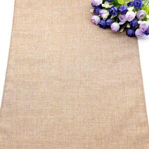 Image 3 - Тканевая ткань, искусственная льняная скатерть, Деревенское украшение для свадебной вечеринки, банкета, домашний текстиль, скатерть для мебели