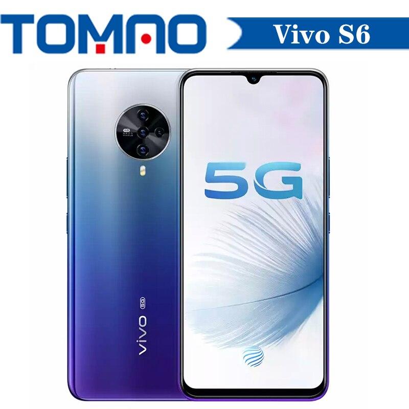 Смартфон Vivo S6, 8 ГБ ОЗУ 128 Гб ПЗУ 256 ГБ, Exynos 980 восемь ядер, 500 мАч, 48 МП, 4 задних камеры, 6,44 дюйма, Android 10, Google Play, OTA