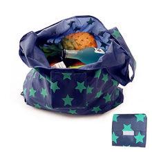 Venta al por mayor 100 unids/lote Eco amigable de polietileno bolsa de almacenamiento con la bolsa de compras plegable bolsas de moda a paquete pesado comestibles