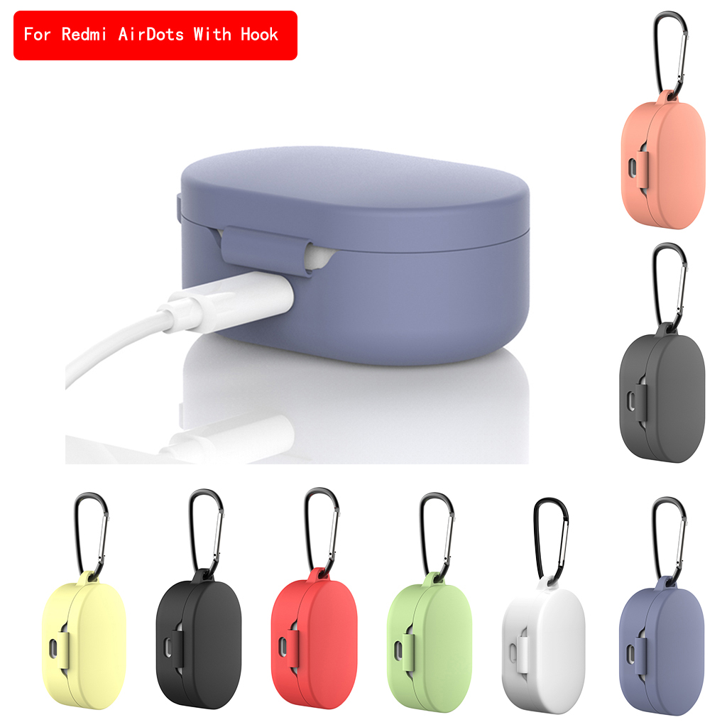 2020 New Silicone Case With Buckle For Xiaomi Redmi Mi AirDots Air Dots Case Cover Wireless Bluetooth Cases Soft TPU Shell