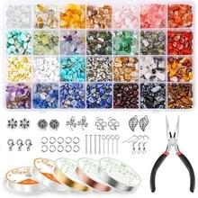 MXMC Irregular Natural Stone DIY Craft Accessories Combination Gemstone Beads 28Grids Earring Making Art Beautiful Gifts