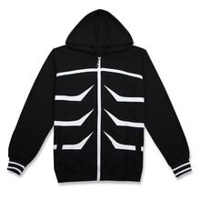 Brdwn Tokyo Ghoul Unisex Kaneki Ken Cosplay Costume Hoodie Casual Coat Hooded Jackets tokyo ghoul hoodie anime ken kaneki cosplay zipper cotton black hooded jacket coat sweatshirt
