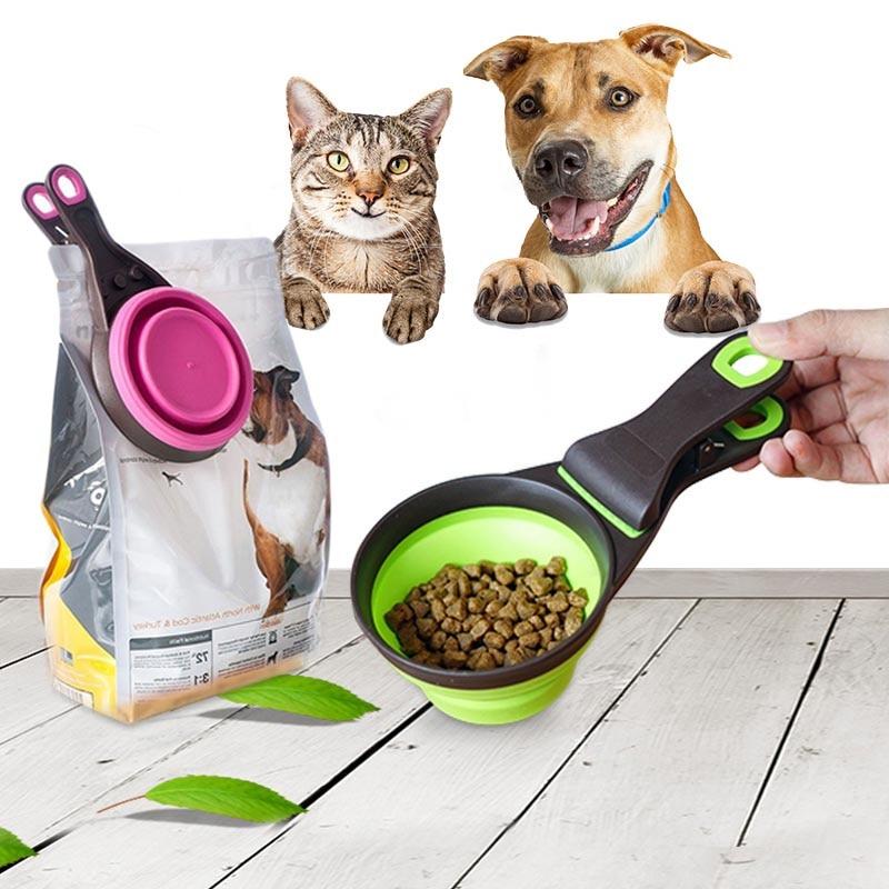 font b Pet b font Cat Dog Food Feeding Scoop Dogs Feed Storage Tool Measuring