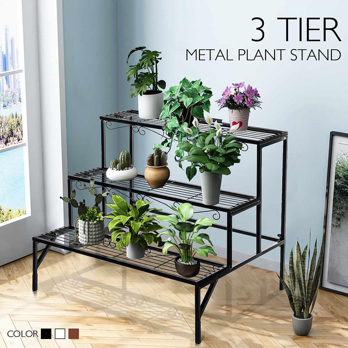 Multi-tiers Flower Plant Holder Stand Rack Plant Stand Balcony Garden Flower Stand Bonsai Display Shelf Shelves
