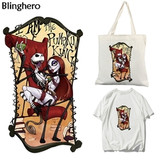 Blinghero Nightmare Heat Transfer Patch Cool Iron-on Stickers Diy Thermal Patches Fashion Accessory BH0374 blinghero cartoon thermal patches cute iron on patch stickers t shirt jacket heat transfer patches diy pacth bh0350