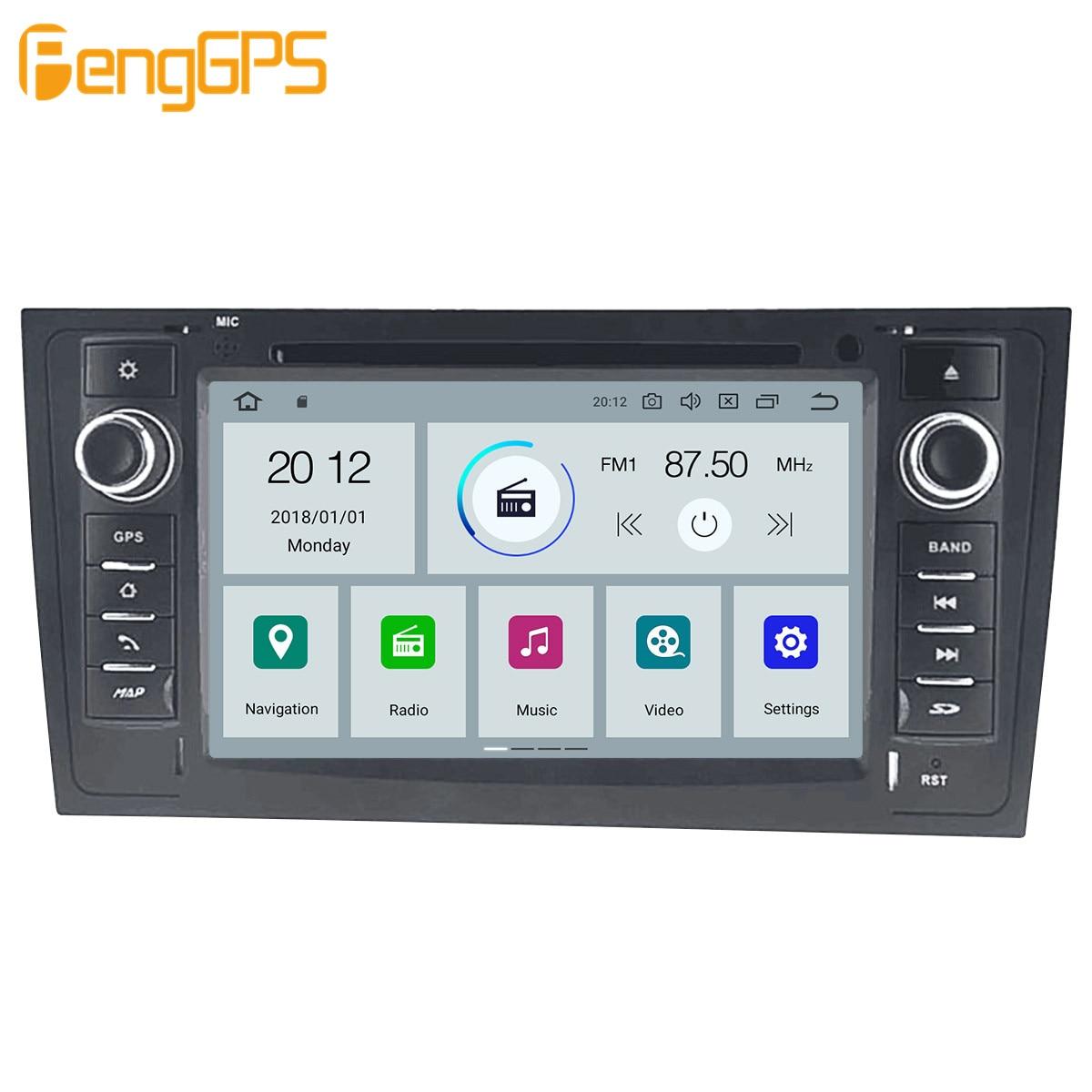 Автомобильный мультимедийный DVD-плеер на Android, GPS-радио для AUDI A6 4B C5 1997- 2004 2005, GPS-навигация, стерео видео головное устройство DSP, стерео-1