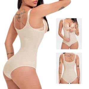 Image 1 - Lateks bel şekillendirme popo kaldırıcı karın kontrol iç çamaşırı şekillendirme yelek zayıflama Shapewear Bodysuit tam vücut şekillendirici klip Zip