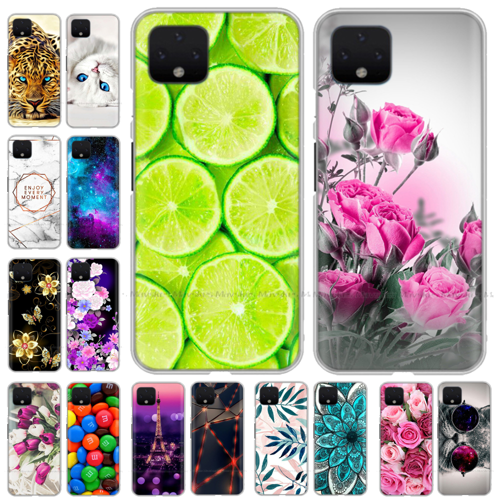 Silicon Case For LG Google Pixel 4 Case Soft TPU Printed Coque Phone Bag Cover For Google Piexl 4 XL 4XL XL4 Pixel4 Cases Cover