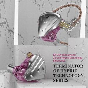 Image 5 - Kz zsx 5BA + 1DDハイブリッドin 耳イヤホンハイファイ金属ヘッドセット音楽スポーツkz zax ZS10 プロAS16 AS10 zsnプロCA16 C12 BA8 V90 vx P1