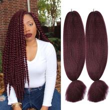 XCCOCO Kanekalon Hair Clearance 48inch Synthetic Braiding Hair For Women 57g/pack Crochet Blonde Brown Fake Hair Extensions