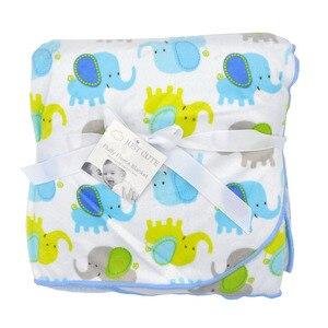 Image 5 - Bebek battaniye sıcak mercan polar bebek kundak kalınlaşmak çift katmanlı çeşitli karikatür arabası Wrap yenidoğan bebek yatak battaniyesi