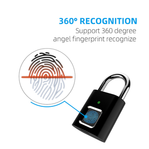 ZK30 Smart Biometric Thumbprint Door Padlocks Portable Anti-Theft Fingerprint Lock for Bag Drawer Suitcase