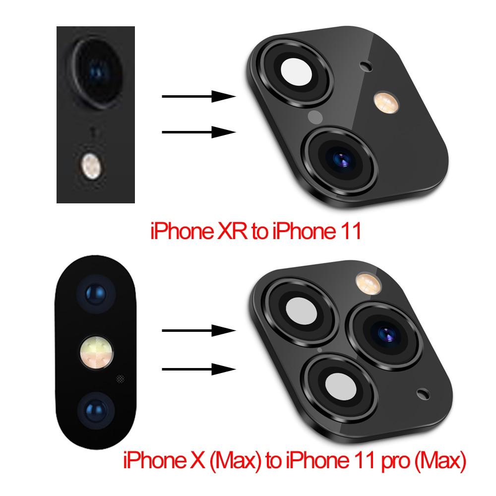 Поддельные линзы камеры стикер секунд для iPhone телефона обновление экрана протектор для iPhone X / XS Макс изменить на iPhone 11 pro Max