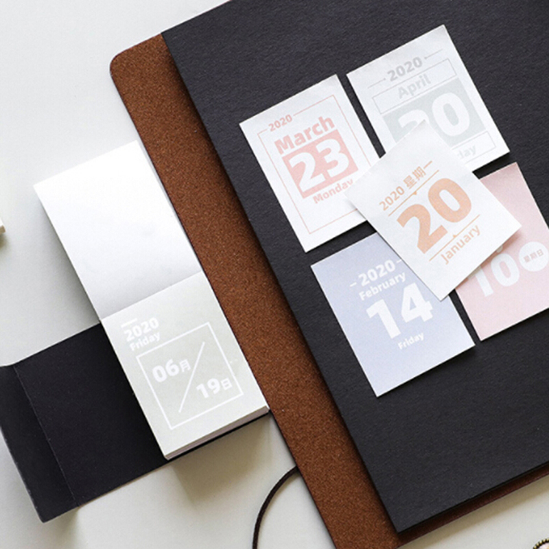 2020 Mini Desktop Paper Calendar Dual Daily Scheduler Table Planner Yearly Agenda Organizer Planner Book