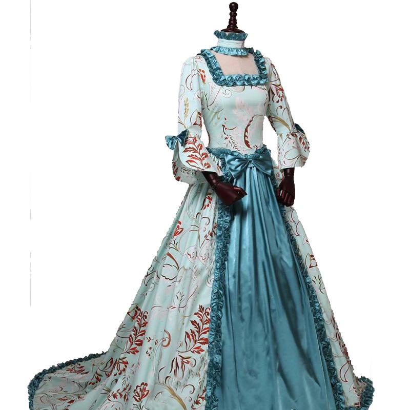Pakaian Gothic Wanita Champagne Gaun Victoria Era Victoria Gaun - Pakaian Wanita - Foto 6