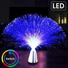 CLAITE многоцветный светодиодный волоконно-оптический светильник, ночник для праздника, Рождества, свадьбы, украшения дома, Ночной светильник, лампы