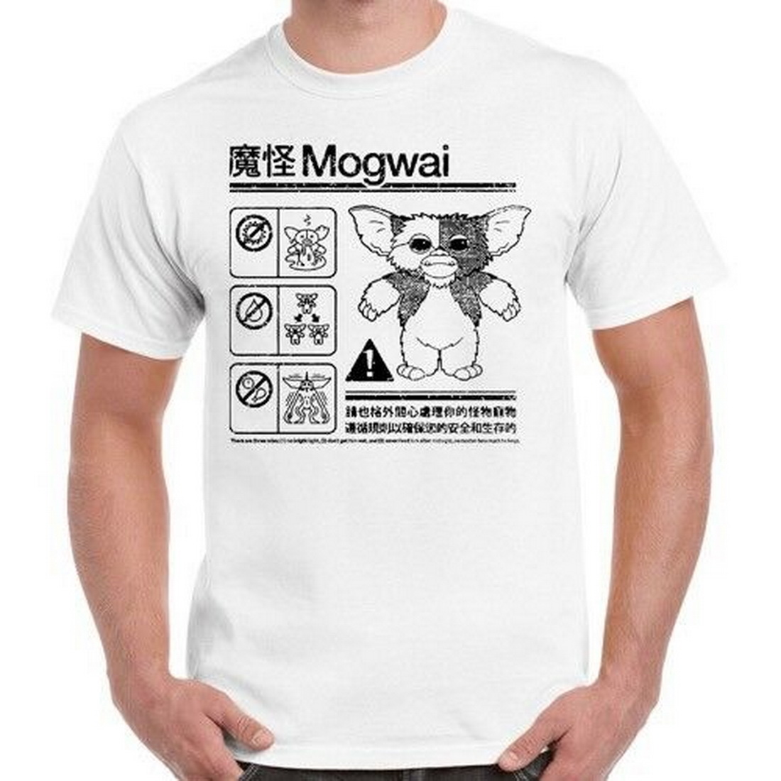 Gremlins Mogwai Safety Instructions Diagram Movie Retro Tops Tee <font><b>T</b></font> Shirt <font><b>55</b></font> <font><b>T</b></font>-Shirt Vintage Graphic image
